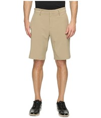 Nike Flat Front Woven Shorts Khaki Anthracite Men's Shorts