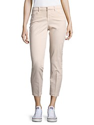 J Brand Kailee Solid Cotton Blend Cropped Pants Rose Blush