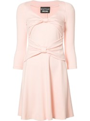 Boutique Moschino Bow Detail Dress Pink Purple