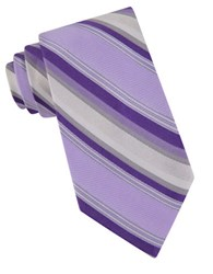 Calvin Klein Carnival Stripes Silk Tie Purple