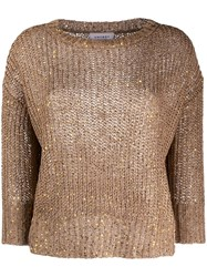 Snobby Sheep Long Sleeve Chunky Knit Jumper Brown