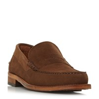 Barbour Wylam Penny Loafer Shoes Tan