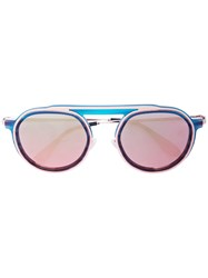 Thierry Lasry Ghosty Round Sunglasses Blue