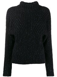 Iro High Neck Jumper Black