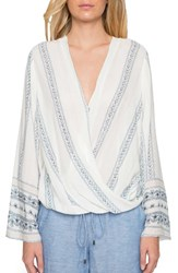 Willow And Clay Women's Wrap Front Blouse