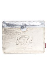 Men's Herschel Supply Co. 'Charlie' Metallic Faux Leather Card Holder