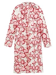 4 Moncler Simone Rocha Floral Embroidered Pvc Raincoat Pink