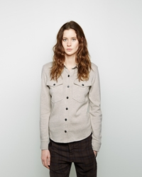 Etoile Isabel Marant Nathan Double Pocket Knit Shirt Chalk