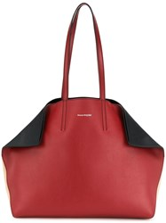 Alexander Mcqueen Fold In Tote Bag Red