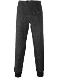Dolce And Gabbana Tweed Track Pants Grey