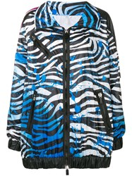 No Ka' Oi Zebra Print Performance Jacket Blue