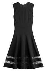 Jason Wu Dress With Lace Panels Black