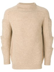 Christopher Kane Stacked Pocket Knit Wool Nude Neutrals