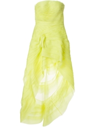 Ermanno Scervino Strapless Ruffled Evening Dress Yellow And Orange
