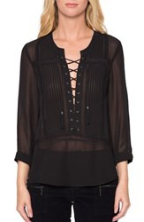 Willow And Clay Women's Sheer Long Sleeve Blouse