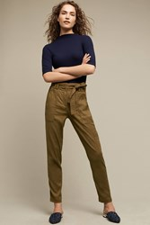 Anthropologie Paperbag Waisted Cargos Moss
