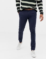 Tom Tailor Skinny Chino With A Belt Navy