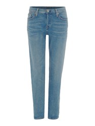 Levi's 501 Boyfriend Tapered Jean In Island Azure Denim Light Wash