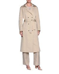 Giorgio Armani Double Breasted Belted Trenchcoat Beige