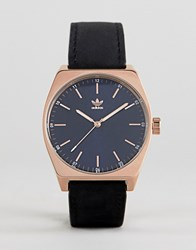Adidas Z05 Process Leather Watch In Black