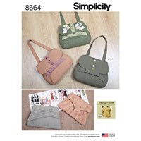 Simplicity Vintage Inspired Bags Sewing Pattern 8664 One Size
