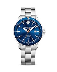 Baume And Mercier Clifton Watch 42Mm Blue Silver