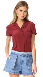 Red Valentino Short Sleeve Blouse Red