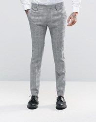 Religion Skinny Prince Of Wales Trousers Grey