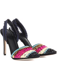 Tory Burch Isle 105 Embellished Pumps Multicoloured