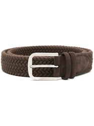 Canali Woven Belt Brown