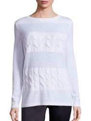 Lafayette 148 New York Cashmere Cable Knit Sweater Cloud