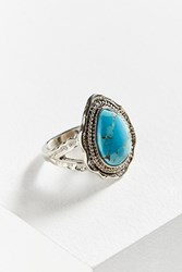 Urban Outfitters Sophie Stone Statement Ring Turquoise