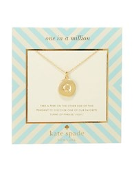 Kate Spade One In A Million Letter Q Pendant Necklace Gold