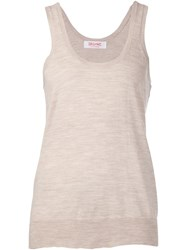 Organic By John Patrick Knitted Vest Nude And Neutrals