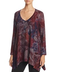 Nally And Millie Marble Print Handkerchief Tunic Burg