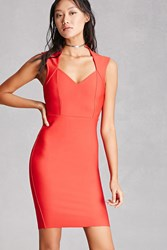 Forever 21 Sweetheart Sheath Dress Red