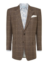 Chester Barrie Classic Check Jacket Brown