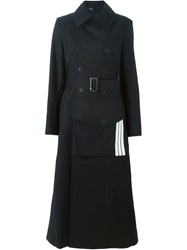 Y 3 Front Pocket Long Trench Coat Black