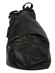 Yohji Yamamoto Zipped Leather Backpack Black