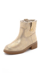 Tory Burch Wayland Short Booties Gold