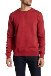 Joe Fresh Long Sleeve Crew Neck Pullover Red