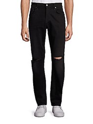 7 For All Mankind Straight Slim Straight Jeans Indie Black
