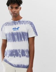 Huf High Tide Tie Dye T Shirt In Blue