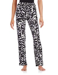 Lord And Taylor Printed Pajama Pants Black White