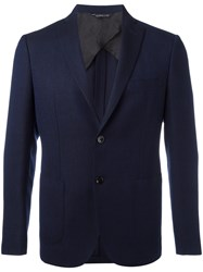 Tonello Notched Lapel Blazer Blue