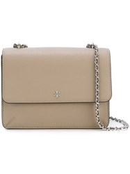 Tory Burch 'Robinson' Convertible Shoulder Bag Grey