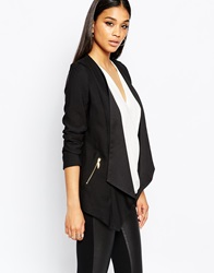 Lipsy Waterfall Jacket Black