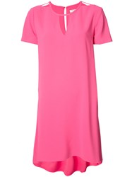 Trina Turk Cut Out Neckline Dress Pink Purple