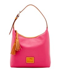 Dooney And Bourke Patterson Leather Paige Hobo Hot Pink