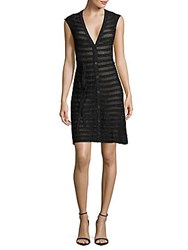 Zadig And Voltaire Marty Cap Sleeve V Neck Dress Black
